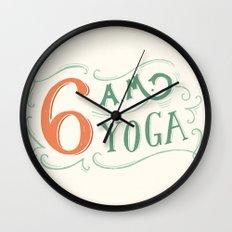 6AM Yoga Wall Clock