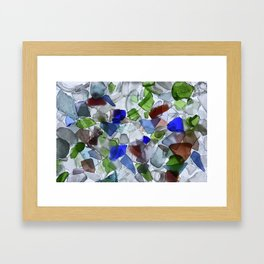 Beach Glass Framed Art Print