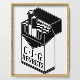 Cig-regrets Serving Tray