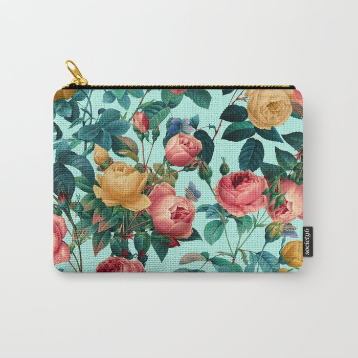 Spring-Summer Botanical Pattern II Carry-All Pouch