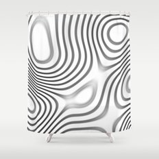 Organic Abstract 01 WHITE Shower Curtain