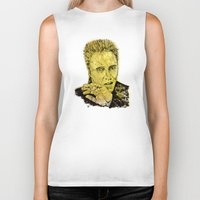christopher walken Biker Tanks featuring Christopher by Rabassa