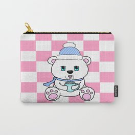 Polar Bear Drinking Hot Chocolate Carry-All Pouch
