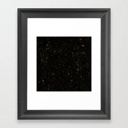 Gold Black Granite Marble Framed Art Print