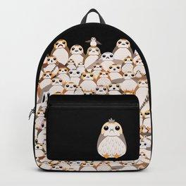 Galatic Penguins on Black Backpack