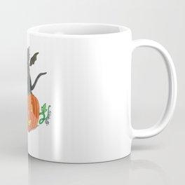 Pirate-Bat-Cat { + Pumpkin Pal Jack O Lantern . Halloween }   Coffee Mug