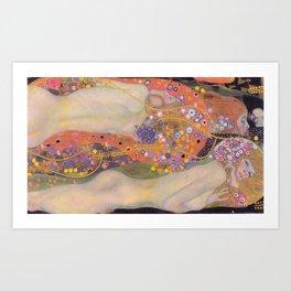 Water Serpents II by Gustav Klimt Art Print