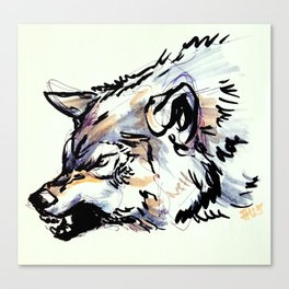 Copic Wolf Canvas Print