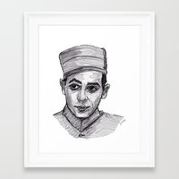 pee wee Framed Art Prints featuring Pee-Wee Herman by jamestomgray