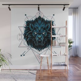 The Wild Lion sacred geometry Wall Mural
