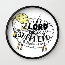 The Lord is My Shepherd Wall Clock