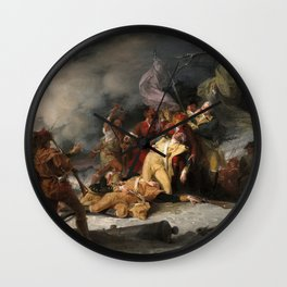 The Death of General Montgomery in the Attack on Quebec, December 31, 1775 Wall Clock