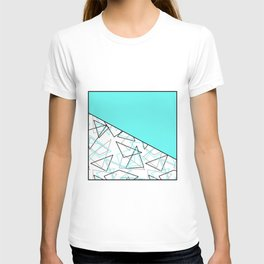 Abstract turquoise combo pattern . T-shirt