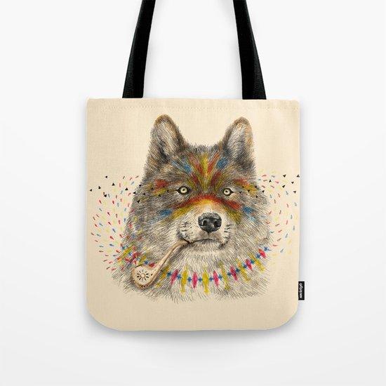 Cherokee Wolf Tote Bag