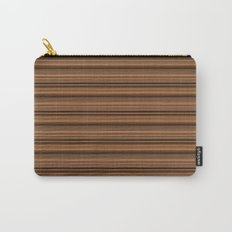 Bronze Tone Stripe Carry-All Pouch