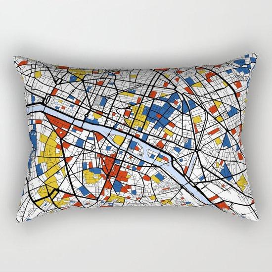Paris Mondrian Rectangular Pillow