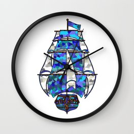 Pirate Ship [Multicolored] Wall Clock