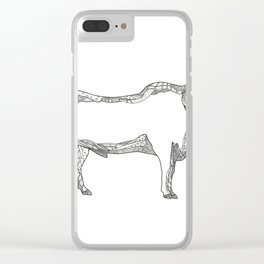 Brahman Bull Side Doodle Side Clear iPhone Case