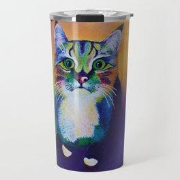 kitty portrait Travel Mug