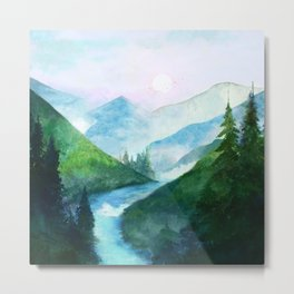 Mountain River Metal Print