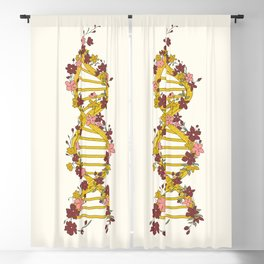 Floral DNA Blackout Curtain