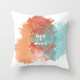Follow Your Heart & Chase Your Dreams  Throw Pillow