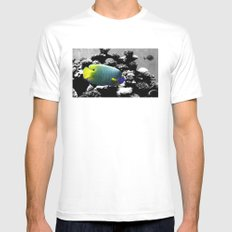 Tropical Fish SMALL White Mens Fitted Tee