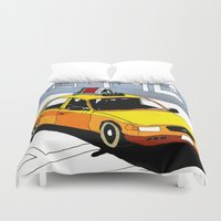 taxi driver Duvet Covers featuring Taxi by Jonas Ericson