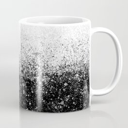 fading paint drops - black and white - spray painted color splash Coffee Mug
