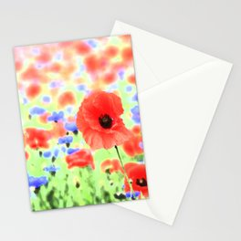 poppies art 004 Stationery Cards