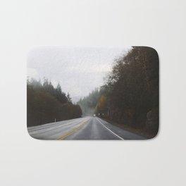Overcast Fall Road Bath Mat