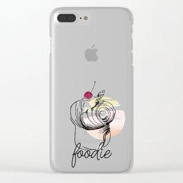 Foodie Cruffin Clear iPhone Case