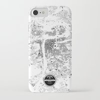 prague iPhone & iPod Cases featuring PRAGUE by Maps Factory