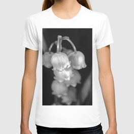 Black and white lily of the valley T-shirt