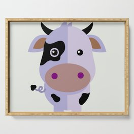 Purple cow by Leslie harlo Serving Tray
