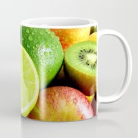 fruits Mugs featuring Fruits by Vic Torys
