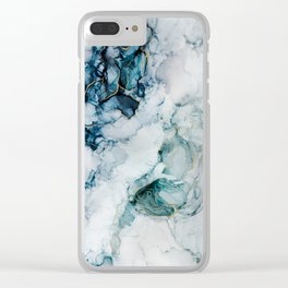 'Narayana' Fluid Abstract Painting Clear iPhone Case