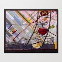 santa monica Canvas Prints featuring Santa Monica by Ellen November