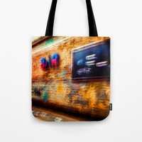 bar Tote Bags featuring Bar by ganjalex