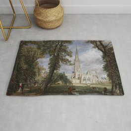 John Constable - Salisbury Cathedral from the Bishop's Garden Rug