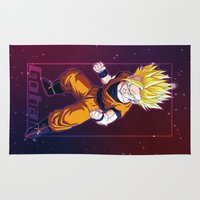 vegeta Area & Throw Rugs featuring Gohan by Neo Crystal Tokyo