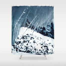 NATURE'S WONDER #1 - Icicles up in the mountains #art #society6 Shower Curtain