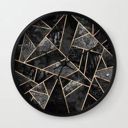 Black Stone 2 Wall Clock
