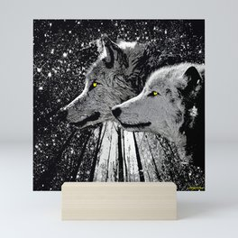 WOLF OF THE NIGHT FOREST Mini Art Print