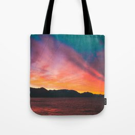 Sunrise on Fire Tote Bag