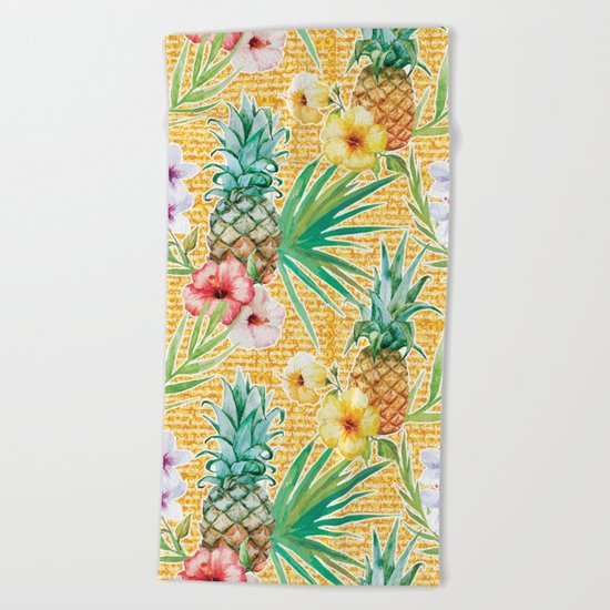 Tropical Summer #11 Beach Towel