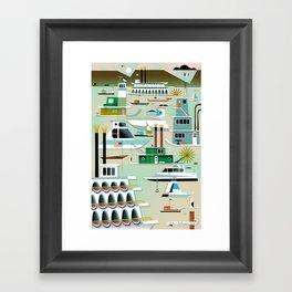 Port of Dubuque Framed Art Print