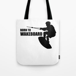 Wakeboarding waterskiing Tote Bag