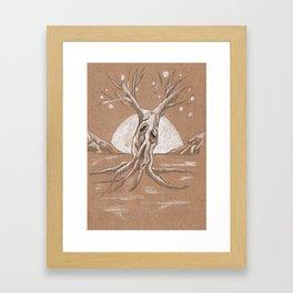 Moon Watcher Framed Art Print