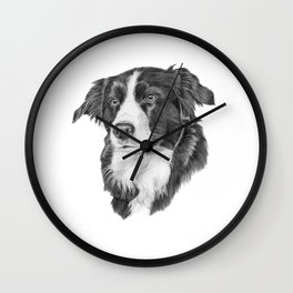 Border collie 2 Wall Clock